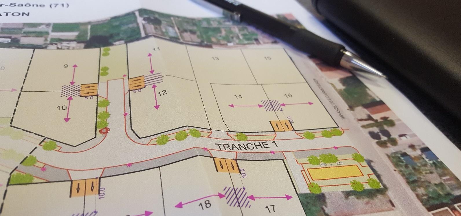 Terrain constructible à Chalon sur Saône à vendre pour votre projet de construction de maison individuelle neuve RT 2012 avec bourgogne bâtir