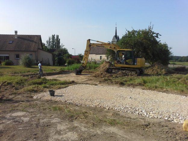 Démarrage d'une nouvelle construction à Guerfand !