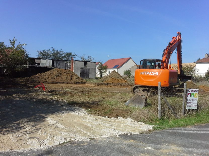 Démarrage d'une nouvelle construction à Lessard Le National