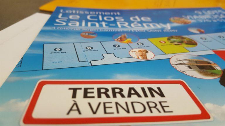 Terrain constructible à Saint Rémy à vendre pour votre projet de construction de maison individuelle neuve RT 2012 avec bourgogne bâtir