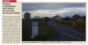 Article JSL Lotissement Sassenay avec Bourgogne Bâtir