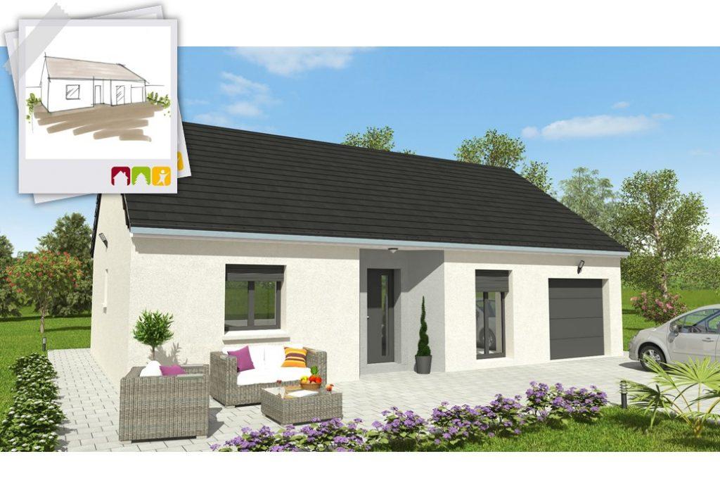 EVOLUTION 2ch - plan maison bourgogne bâtir Saône et Loire Chalon sur Saône