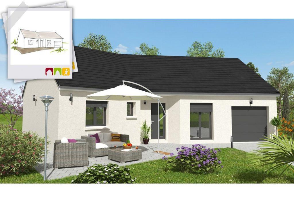 VISION 3ch - plan maison en V bourgogne bâtir Saône et Loire Chalon sur Saône