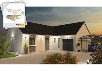 Ce modèle imposant et distingué associe avec succès un toit à pans multiples, une entrée chaleureuse et un vaste espace à vivre pour en faire une vraie maison de charme.