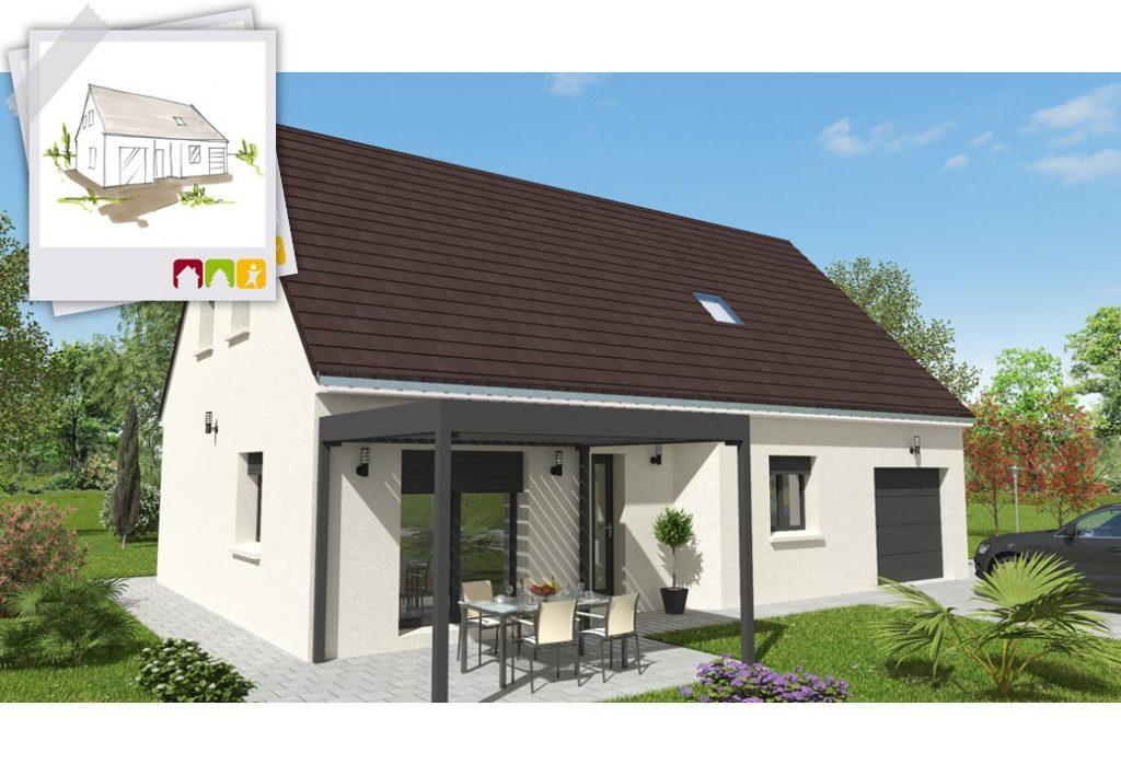 HORIZON 4ch - plan maison combles aménageables bourgogne bâtir Saône et Loire Chalon sur Saône