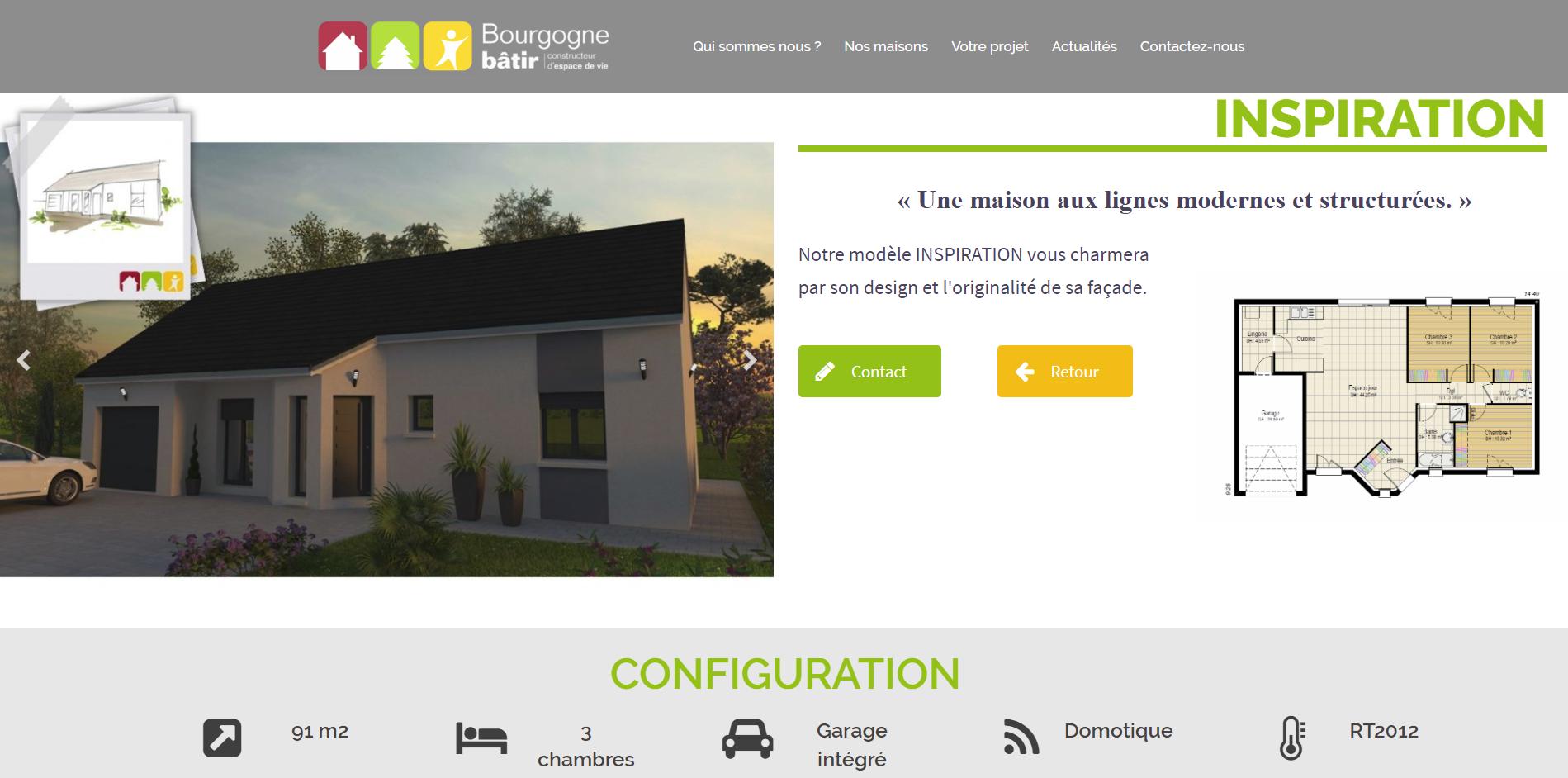 La gamme IDÉALE par Bourgogne Bâtir au rapport qualité / surface / prix très étudié, s'adaptant à toutes les formes de terrain.