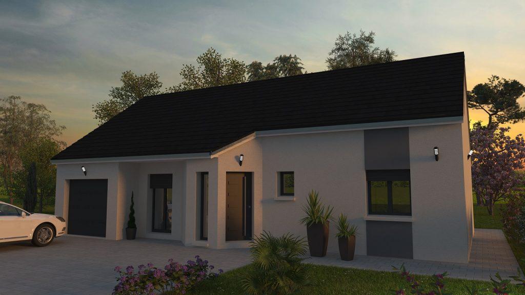 Gamme Idéale modèle Inspiration 3 chambres constructeur Bourgogne Batir Chalon sur Saône