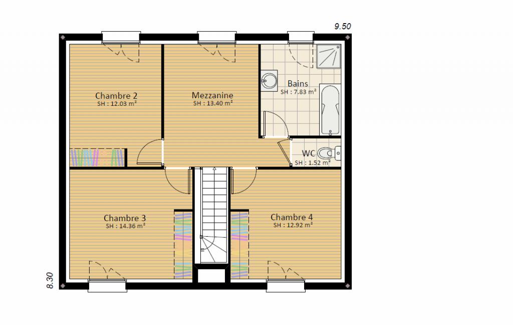 EXPRESSION 4ch - plan rdc maison étage bourgogne bâtir Saône et Loire Chalon sur Saône