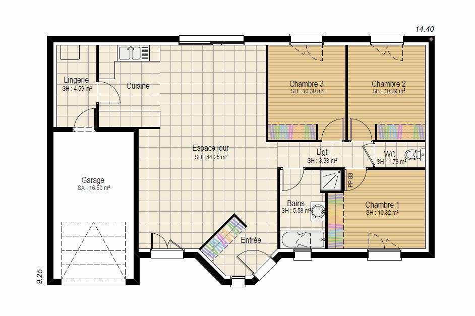 INSPIRATION 3ch - plan maison bourgogne bâtir Saône et Loire Chalon sur Saône