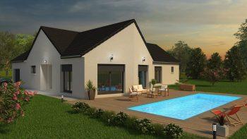 Plan de maison neuve avec architecture personnalisée par Bourgogne Bâtir constructeur de maison neuve individuelle Chalon sur Saône en Bourgogne