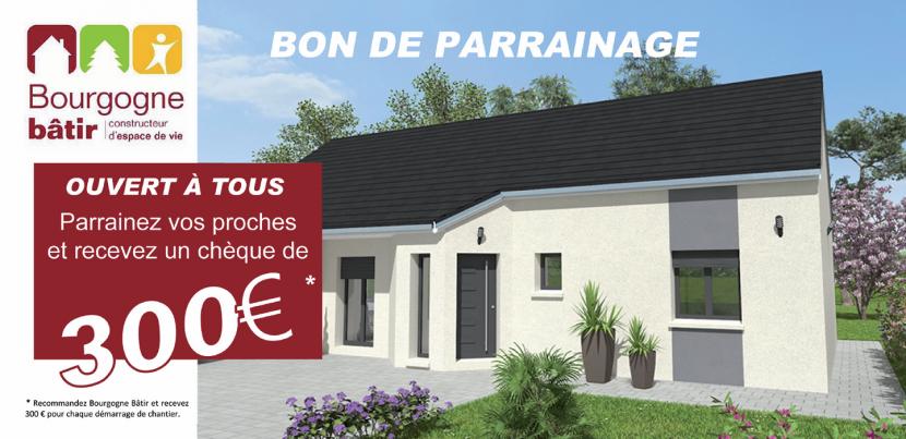 Bon de parrainage Bourgogne Bâtir Chalon sur Saône constructeur de maison individuelle en Saône et Loire