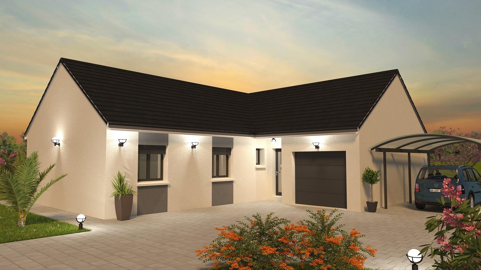 Création 4 ch coucher de soleil - plan maison bourgogne bâtir Saône et Loire Chalon sur Saône