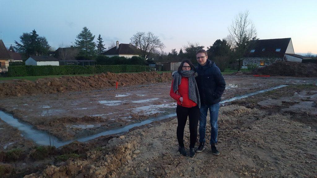 Bourgogne Bâtir fondations Démarrage chantier à Oslon Bourgogne Bâtir Chalon sur Saône constructeur de maison individuelle en Saône et Loire