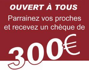 Ouvert à tous, parrainez vos proches et recevez un chèque de 300€ pour conseiller Bourgogne Bâtir dans la construction de votre maison.