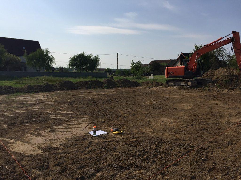 Démarrage chantier maison neuve Bourgogne Bâtir à Farges les Chalon