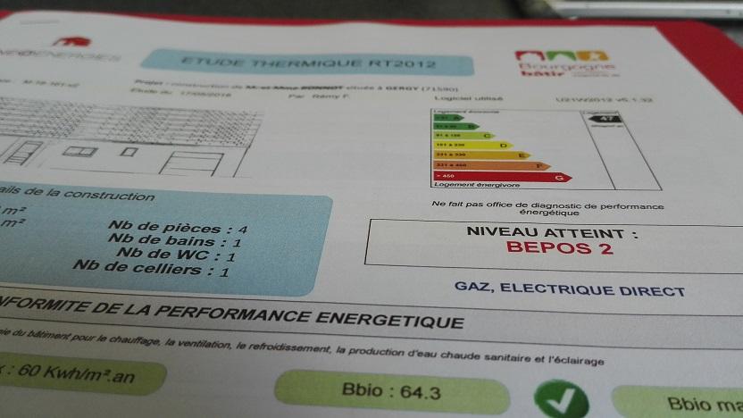 Etude thermique RT2012 Démarrage chantier maison neuve Bourgogne Bâtir à Gergy
