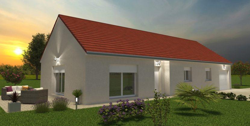 Démarrage maison individuelle Bourgogne Bâtir Saint Maurice en Rivière coucher de soleil constructeur de Chalon sur Saône en Saône et Loire