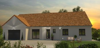 Plan de maison neuve avec architecture personnalisée par Bourgogne Bâtir constructeur de maison neuve individuelle Chalon sur Saône en Bourgogne coucher de soleil