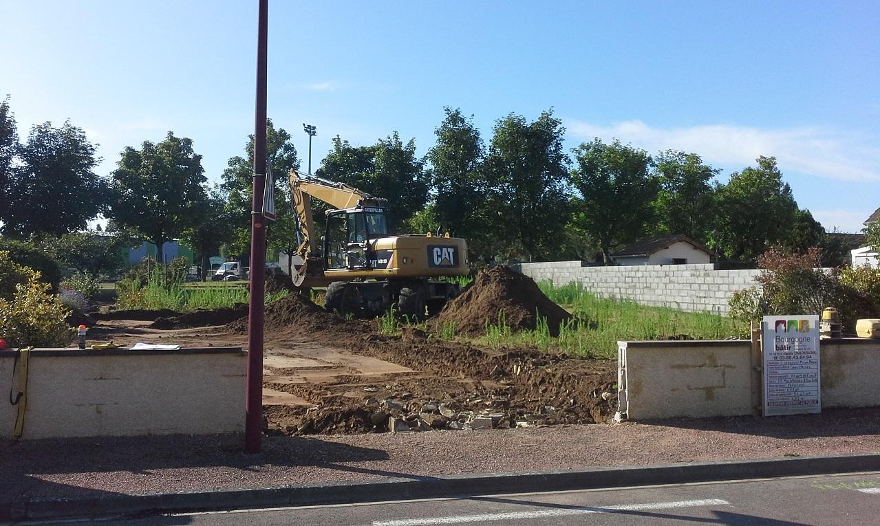 Démarrage chantier maison neuve Bourgogne Bâtir à Saint Marcel