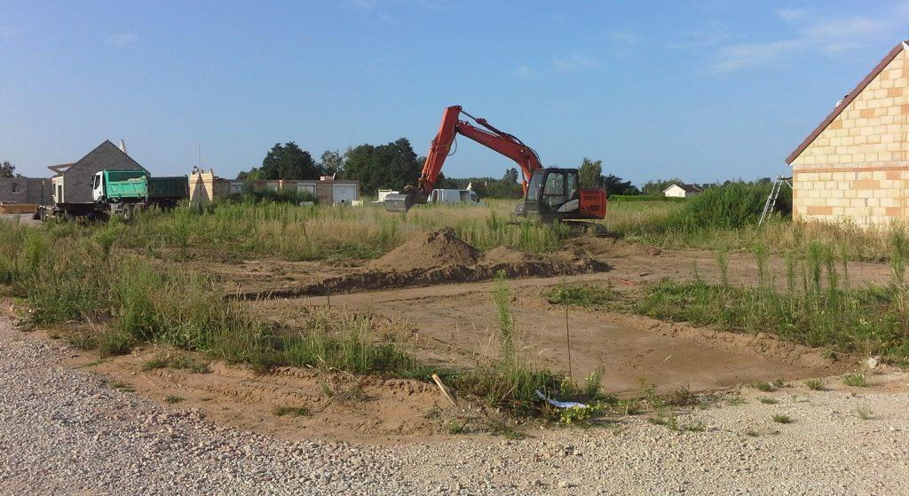 Démarrage chantier maison neuve Bourgogne Bâtir à Epervans