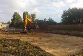 Démarrage chantier maison neuve 89m² Bourgogne Bâtir à Epervans