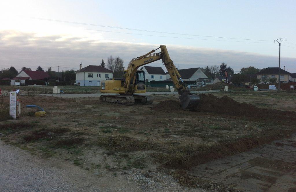 Démarrage chantier maison neuve Bourgogne Bâtir à Virey le Grand 2