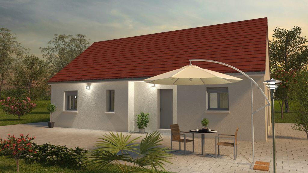 Démarrage chantier maison neuve Bourgogne Bâtir à Chagny visuel 3D
