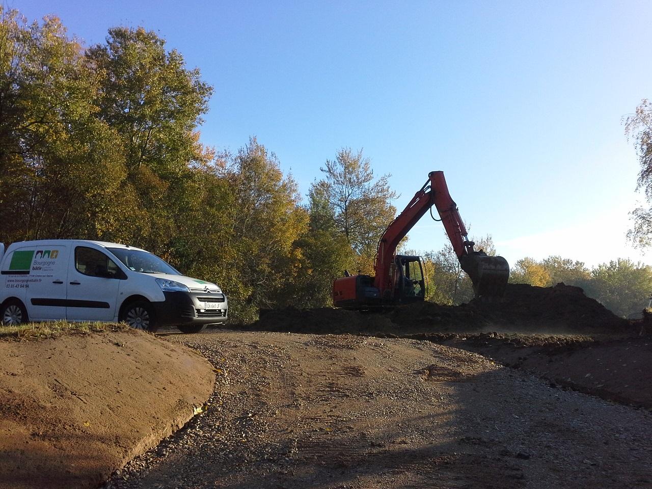 Démarrage chantier maison neuve Bourgogne Bâtir à La Frette