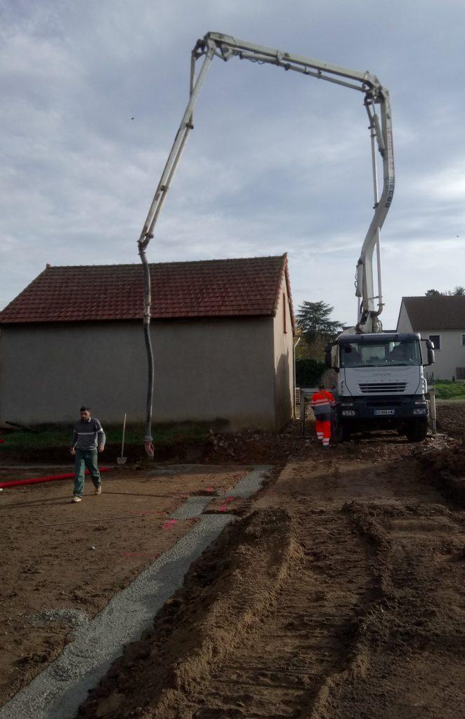 Démarrage chantier maison neuve Bourgogne Bâtir à Demigny