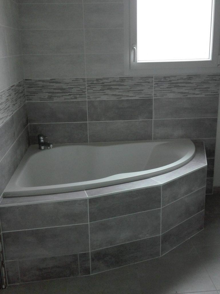 Livraison d'une construction neuve Bourgogne Bâtir à Oslon proche Chalon sur Saône salle de bains