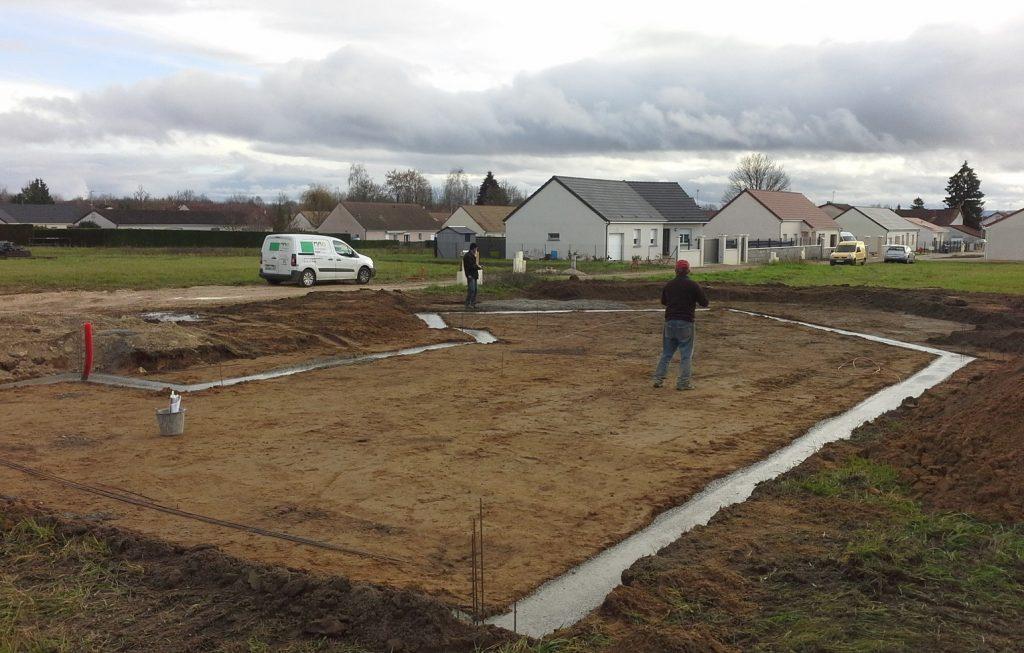 Démarrage chantier maison neuve Bourgogne Bâtir à Saint Marcel 1