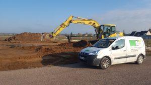 Démarrage chantier maison neuve Bourgogne Bâtir à Sassenay