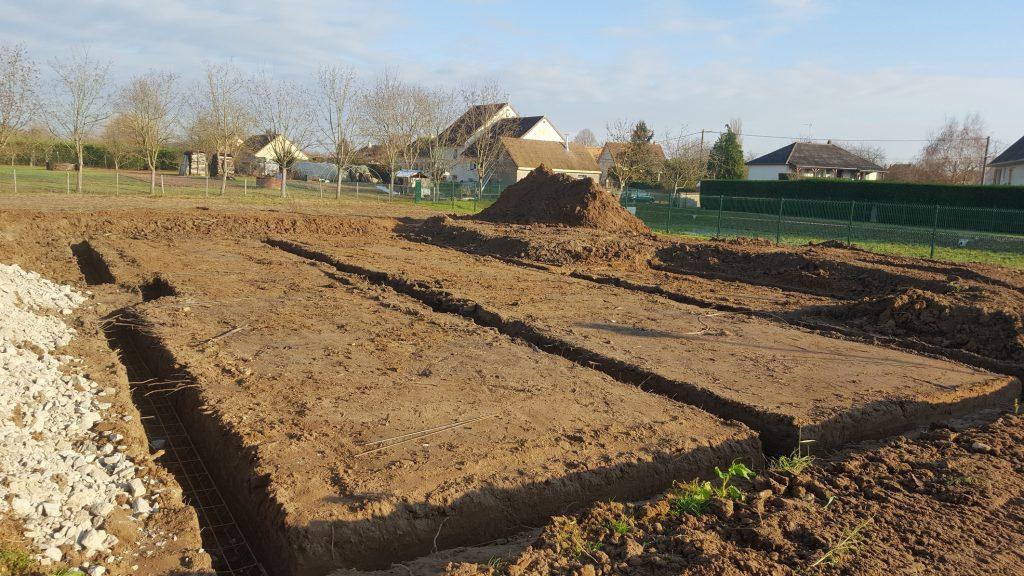 Démarrage chantier maison neuve Bourgogne Bâtir à Sassenay sur vide sanitaire