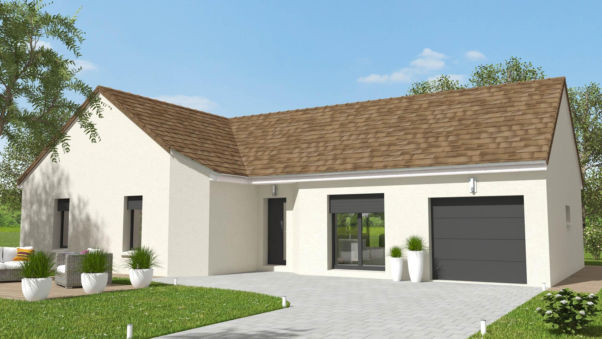 L 4 ch tuiles chevreuse - plan maison bourgogne bâtir Saône et Loire Chalon sur Saône