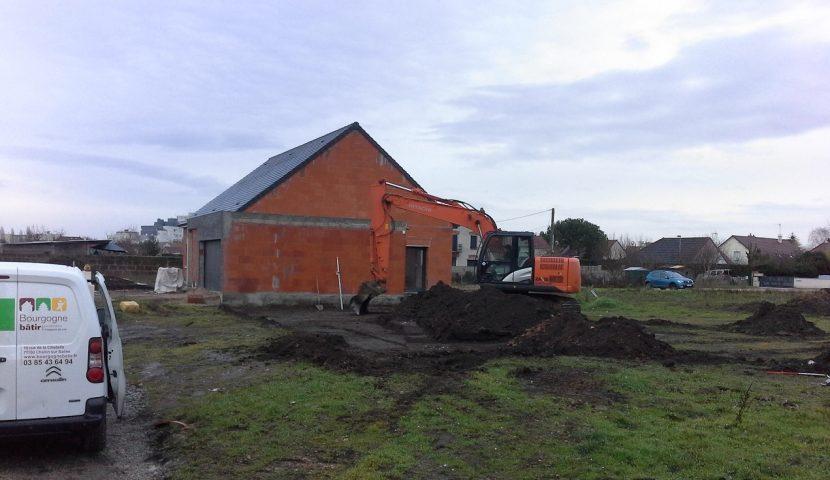 Démarrage chantier maison neuve Bourgogne Bâtir à Chalon sur Saône