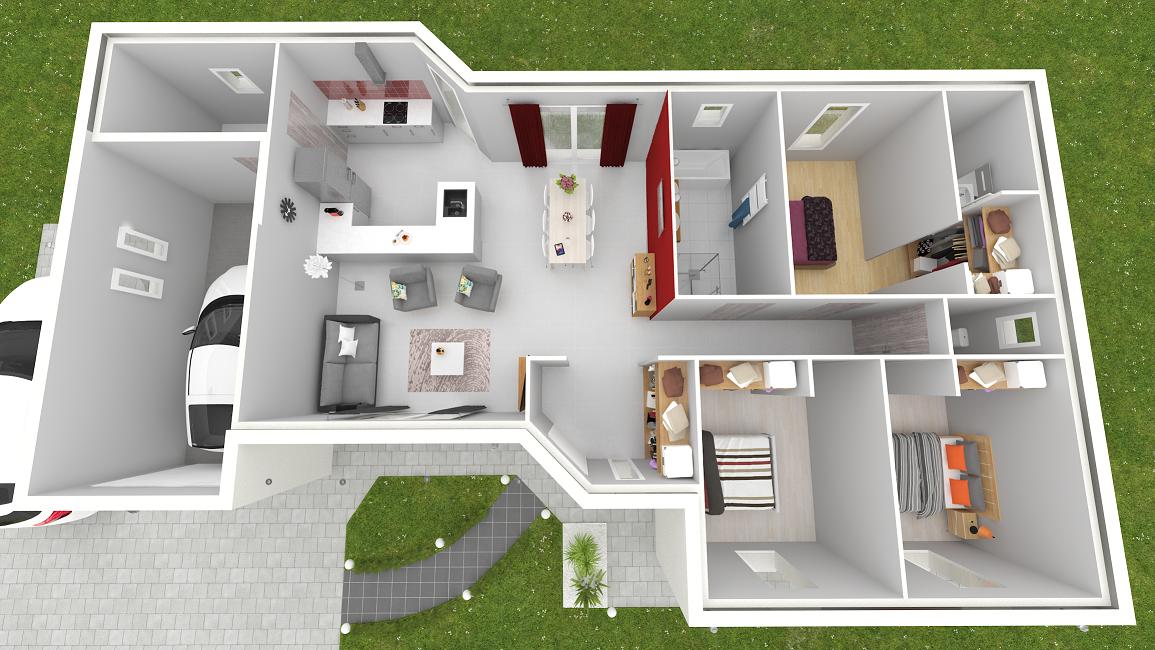 plan de maison vue de dessus