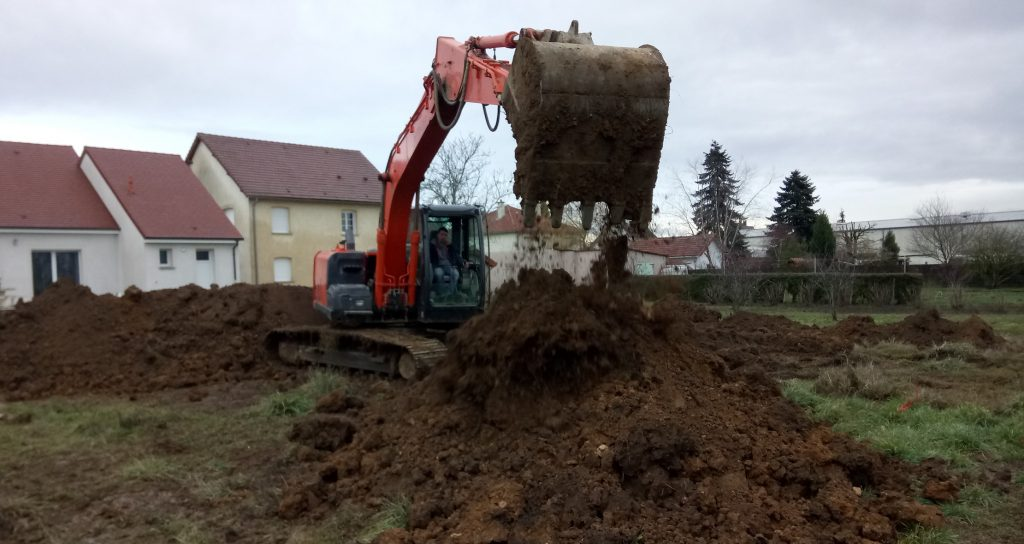 Démarrage chantier maison neuve Bourgogne Bâtir à Chagny