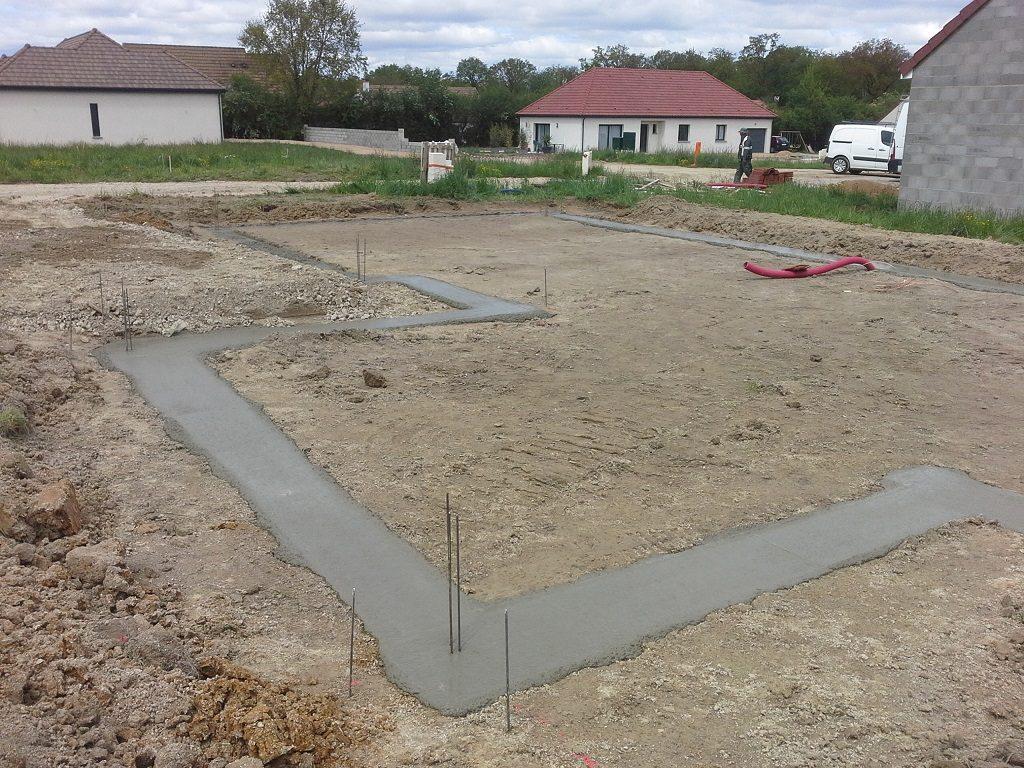 Démarrage chantier maison neuve Bourgogne Bâtir à Granges 1
