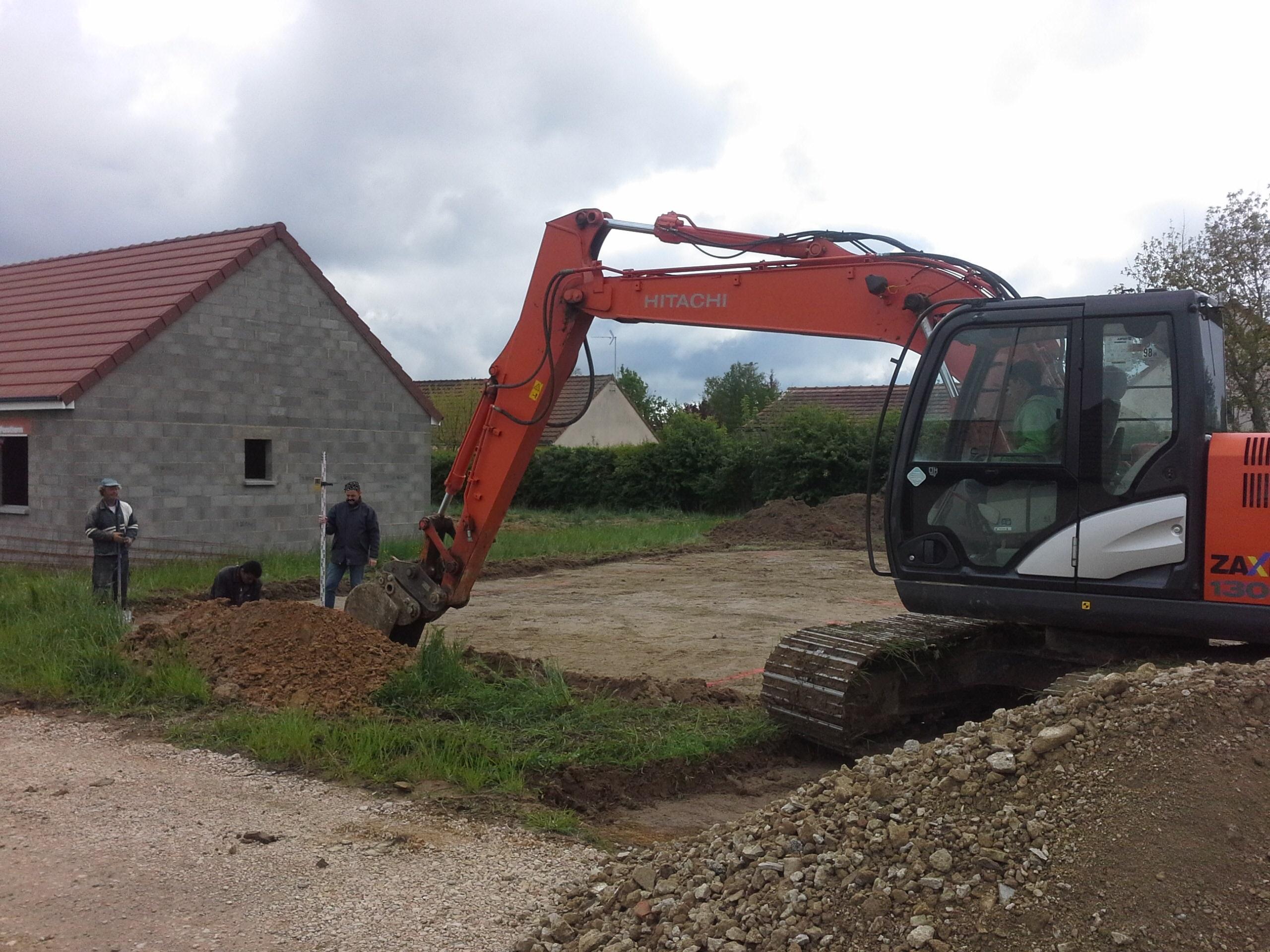 Démarrage chantier maison neuve Bourgogne Bâtir à Granges 2