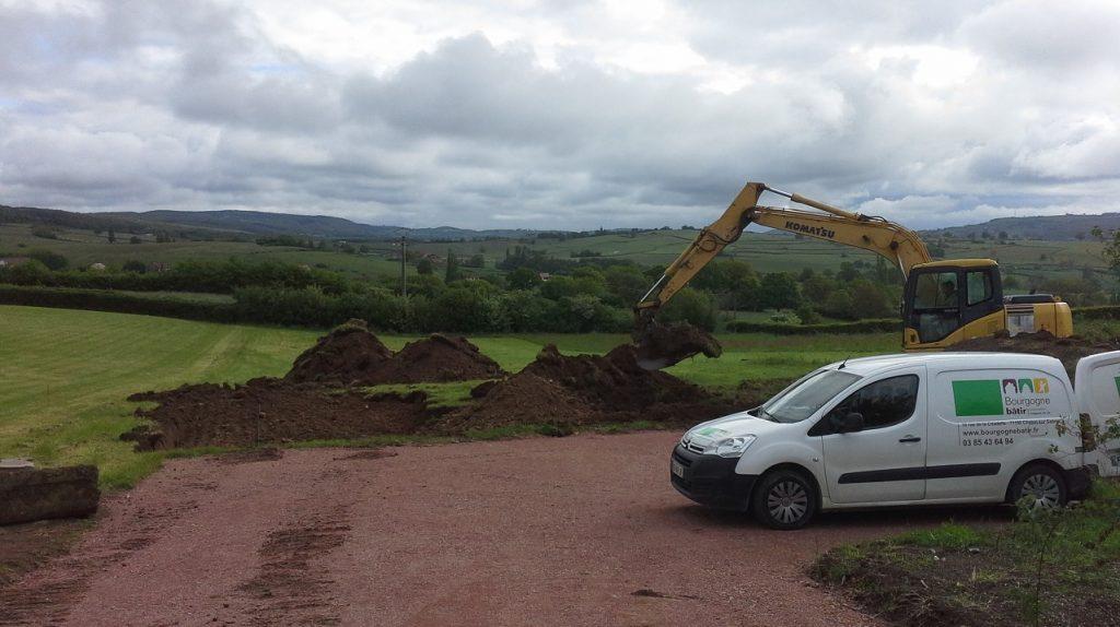 Démarrage chantier maison neuve Bourgogne Bâtir à Marcilly les Buxy 1