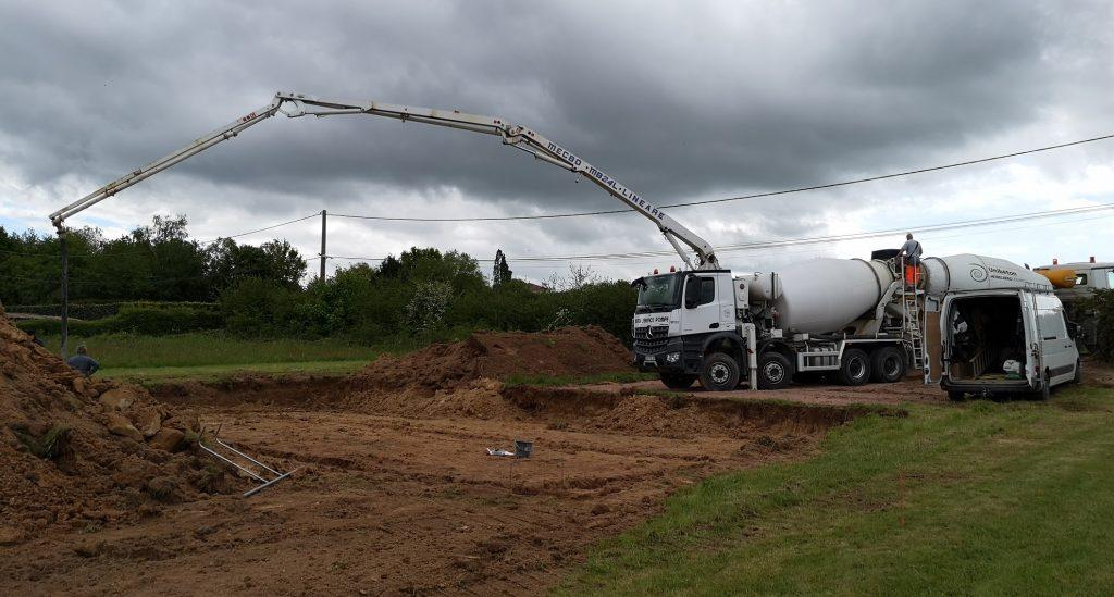 Démarrage chantier maison neuve Bourgogne Bâtir à Marcilly les Buxy